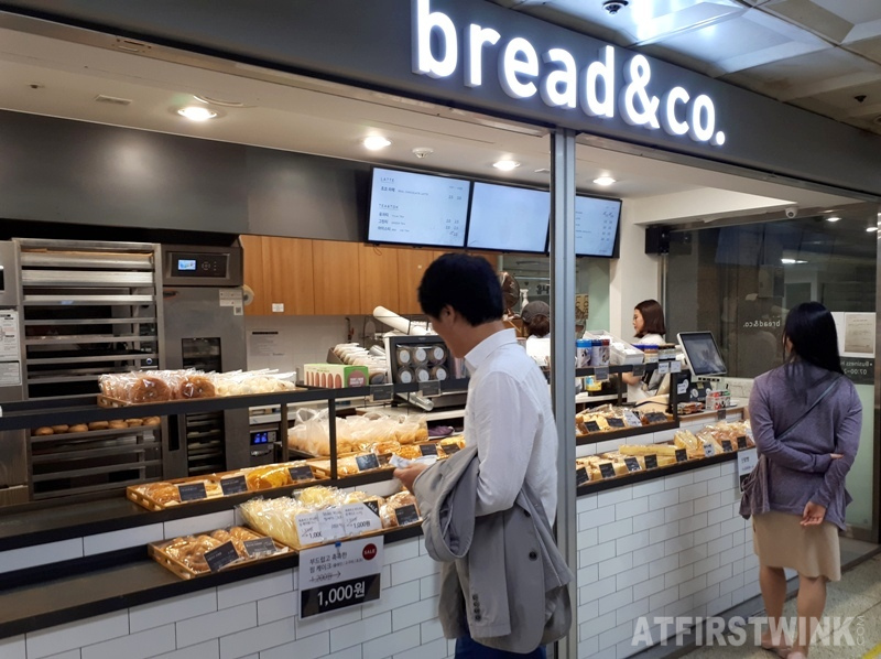 bread & co. shop in Jongno 3-ga metro station Seoul Korea