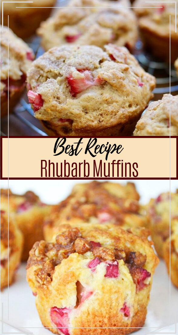 Rhubarb Muffins #desserts #cakerecipe #chocolate #fingerfood #easy