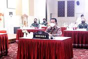 Agus Fatoni Bersama Forkopimda Ikuti Rakor Kebijakan Pemerintah Pusat dan Daerah Dalam Pelaksanaan Regulasi Omnibus Law