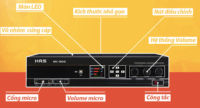Amply karaoke số HAS MC500