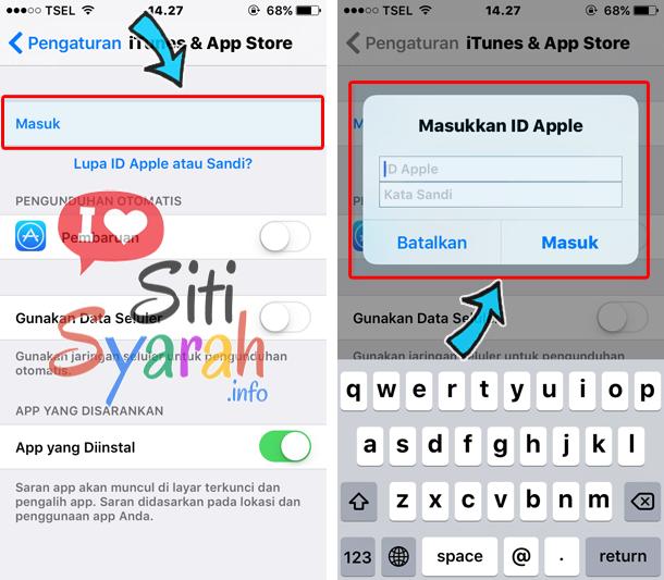 update aplikasi iphone pakai id berbeda