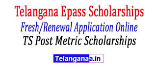 "TS Post Metric scholarships Epass 2017-18 Fresh / Renewal Application Form Registration process Online Status     Telangana / TS Epass Scholarship Fresh & Renewing 2017-18: Telangana's Government has been announced an amazing opportunity for all telangana students to improve education towards backward and planned sections of society - which means they introduced Fee Reimbursement / Scholarship to all students Has successfully completed enrollment / SSC exam for those who wish to pursue / interest postmatic studies such as Intermediate. Polytechnic, Diploma, ITI, Graduation, Postgraduate, Ph.D and Professional Courses. Candidates with an annual income of 2 Lakhs are eligible for this Telangana Reimbursement Scheme 2017-18. The TS Government invites applications from all matriculations or equivalent candidates for TS ePASS Scholarship 2017 @ telanganaepaas.cgg.gov.in. Telangana ePASS fresh as well as renewal registration for post-matricate scholarships of the academic year 2017-18 will be opened very soon. Each candidate must require a bank account in each of the nationalized banks planned to get reimbursement / scholarship. In this article, we also updated information on Telangana Epass Fellowships Fresh / Renewal Applications, Telangana Epass Scholarship Status, TS Epass Scholarships Online, Last Date, etc.  TS Post Metric scholarships Epass 2017-18 Fresh / Renewal Application Form Registration process Online Status   TS ePass Postmatric Scholarship For Fresh / Renewal Application Procedures 2017 - 18, candidates those who are eligible and interested to join in pre / post metric course with higher education institutions in a request for reimbursement scheme. Students who have already registered for TS Epass Scheme must renew their previous applications. Both fresh and renewal applications for Postmetric & Pre Metric scholarships for the academic year 2017-18 are now being opened. Applicants who are eligible under Telangana's remuneration system for the academic year 2017-18 are asked to apply from active epass links @ telanganaepass.gov.cgg.in. For the convenience of students from all over state follow our website.  TS Post Metric scholarships Epass 2017-18 Fresh / Renewal Application Form Registration process Online Status    NewAP Epass 2017 -18 Telangana ePass post / metric scholarship  Students who are willing to apply the Telangana E-pass Fresh Fellowship must be aware of the necessary documents to be submitted at the time of TS EPass's application. Application documents are submitted by   2017.  TS Post Metric scholarships Epass 2017-18 Fresh / Renewal Application Form Registration process Online Status   Required Documents for Telangana ePass Post-Matric Fresh Applications:      Latest Passport size photo     Student Aadhaar card     Bank Pass Book First page Xerox (the student name, bank account number & branch should exist)     Studies / Bonafide Certificates of seven consecutive study years.     Common input test -CET (ICET, EAMCET, PGCET, OUCET) Allocation order     SSC certificate     Caste & income of Mee Seva (Six months from the date of application)     Mobile number for a time password via SMS.  Approval criteria for Telangana / TS ePass Post / Pre Metric Scholarship 2017-18 TS Post Metric scholarships Epass 2017-18 Fresh / Renewal Application Form Registration process Online Status        Candidates of the SC / ST categories with parental income less than two Lakhs     BC / EBC / Disabled Welfare Applicants whose parents' salary is less than or a lakh.     Participation of students must be no less than 75% at the end of each quarter.  Telangana ePass FreshPost / Pre Metric Scholarship Application procedure 2017-18TS-Epass-Fresh application procedure   TS Post Metric scholarships Epass 2017-18 Fresh / Renewal Application Form Registration process Online Status    In here, we update step by step procedures for TS Fresh Scholarship application apply below ...      Candidates initially received an epass official website @ telanganaepass.cgg.gov.in     Choose the appropriate link based on your requirement namely Fresh or Refresh     Now select the SSC Pass type (Regular / Supple / CBSE etc.)     Then offer SSC Hall ticket number, passing SSC year and date of birth.     Confirm the details and click Submit.     You have access to the registration form.     Now you need details such as CET number, Aadhaar card / VAT number, address, father's name, cell phone number, etc.     Upload your allotment, income / caste certificate, ration card, aadhaar card, etc.     Check again all the details and uploaded certificates before filing.     Accept the completed application form / confirmation for future use.  Telangana ePass Renewal Post / Pre Metric Fellowship Application Procedures 2017-18TS-Epass Renewal Application ProcedureCandidates the renewal procedure for TS ePass Application 2017-18 is very simple when comparing with the submission of fresh application. Students must confirm their particulars, which used to apply earlier for fresh epass and send all the documents to your college     Enter your ePass application number, SSC pass type / Hall ticket number / year of implementation.     Students must submit scanned copies of Bank Passbook, Latest Marks Memo & Income Certificate (Original).     Check all the details and twice before submitting the application form.     Take the expression of recognition for future reference, which must be submitted in the institution / institution  Telangana ePass Post / Pre Metric Scholarship Application Status 2017-18TS-Epass Fresh Renewal Application Status   TS Post Metric scholarships Epass 2017-18 Fresh / Renewal Application Form Registration process Online Status   Candidates can track their scholarships as well as the fee reimbursement status through this TS Epass Application Status 2017-18. Follow the steps below to know your Telangana Fresh or renew Epass Fellowship status      On the first visit Telangana epass official website @ telanganaepass.cgg.gov.in     Locate and open the ""Know your Application Status"" link.     Enter details such as Application No., Academic Year, SSC Hall Ticket No / Pass / Year of Passport and Date of Birth.     Check the details and click the Get status button.     Candidate application, scholarship and reimbursement status displayed on the screen."