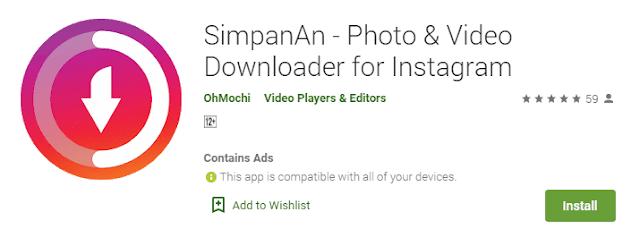 SimpanAn IG - Photo & Video Downloader - Simpanan Instagram