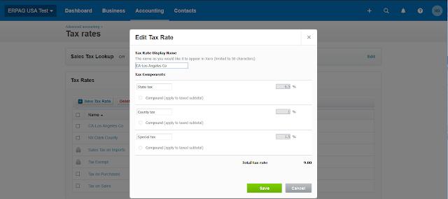 xero sales tax