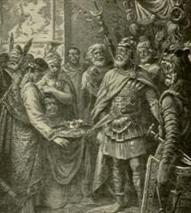 Abdicación de Rómulo Augusto ante Odoacro