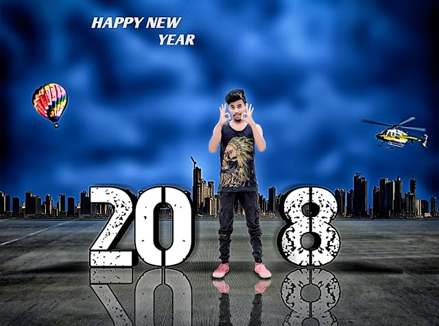 Happy New Year - 2018 || Photoshop Photo Editing || Photoshop Manipulation Editing Tutorial