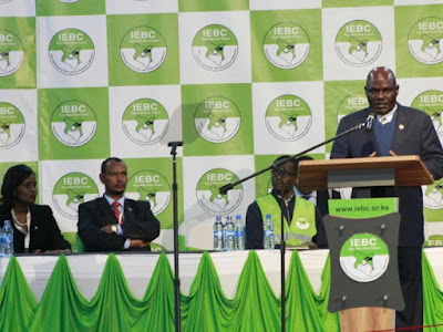 IEBC giving results. PHOTO | FILE
