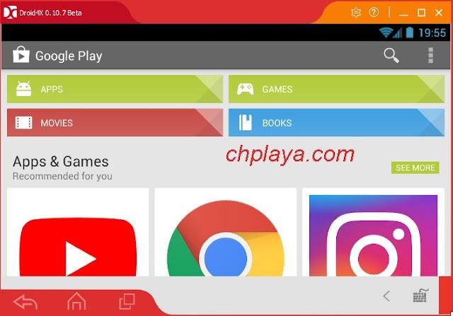 Đăng nhập cửa hàng Ch Play - Google Play Store trên Droid4X e