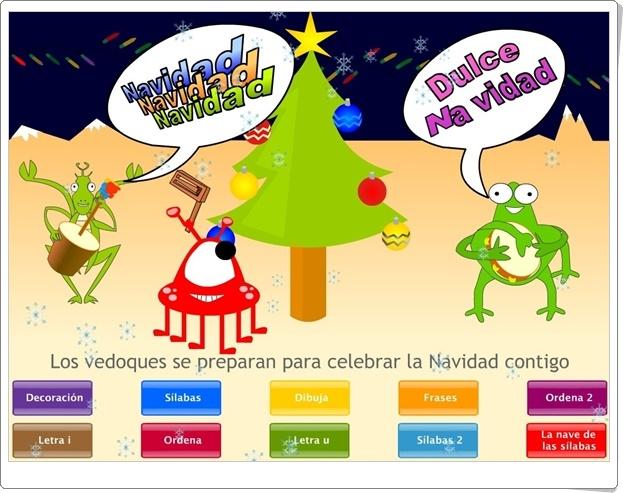 """""""Navidad Vedoque"""" (Juegos de lectoescritura)"""