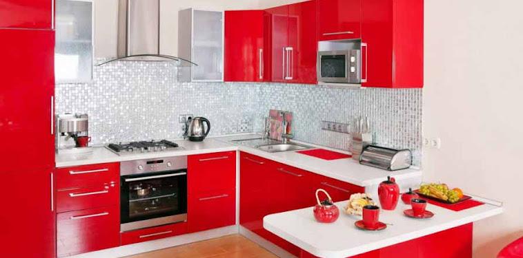 Dekorasi Desain Dapur Nuansa Merah Terbaru