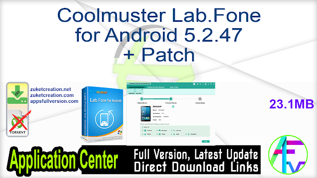 Coolmuster Lab.Fone for Android 5.2.47 + Patch