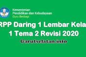 RPP Daring 1 Lembar Kelas 1 Tema 2 Revisi 2020