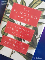 The Tangled Tree: A Radical New History of Life, by David Quammen, superimposed on Intermediate Physics for Medicine and Biology.