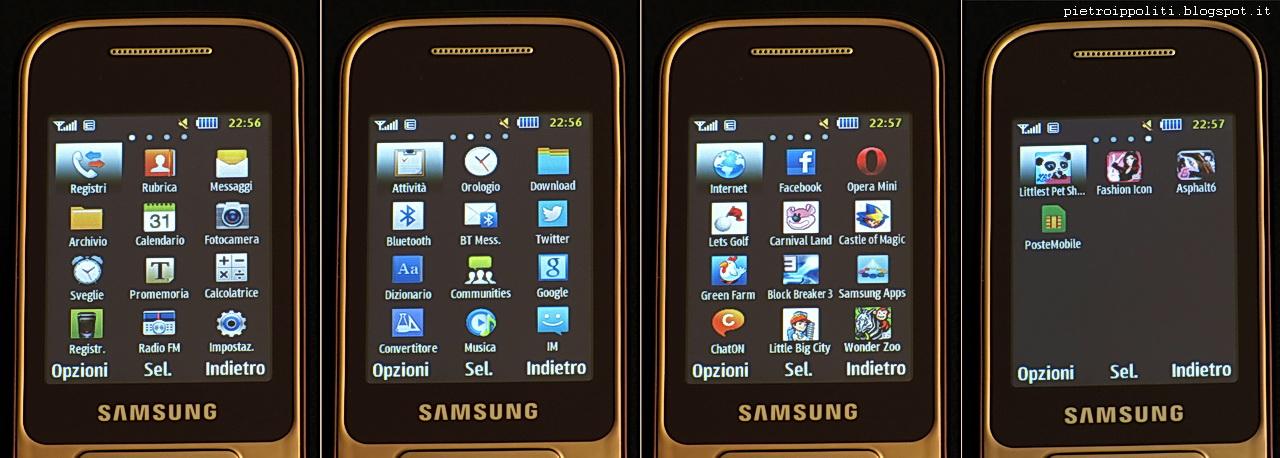 Samsung GT-C3590, applicazioni