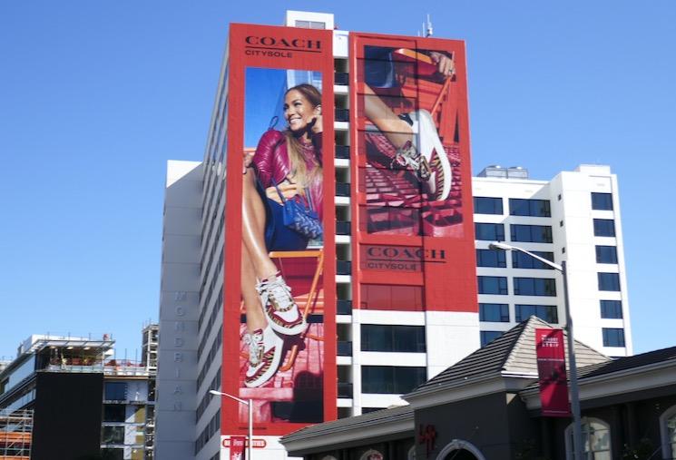 Giant Coach CitySole JLO billboard