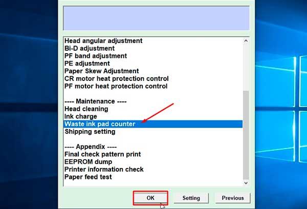 resetear impresora Epson Expression Xp-600