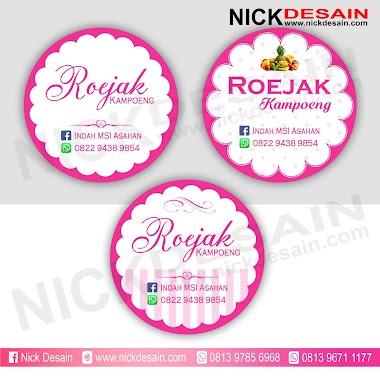 Contoh Desain Logo Olshop Pink Putih dan Cetak Stiker Label - Percetakan Tanjungbalai