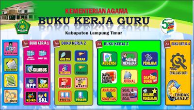 Update Aplikasi Buku Kerja Guru Kurikulum K13 Lengkap 2018