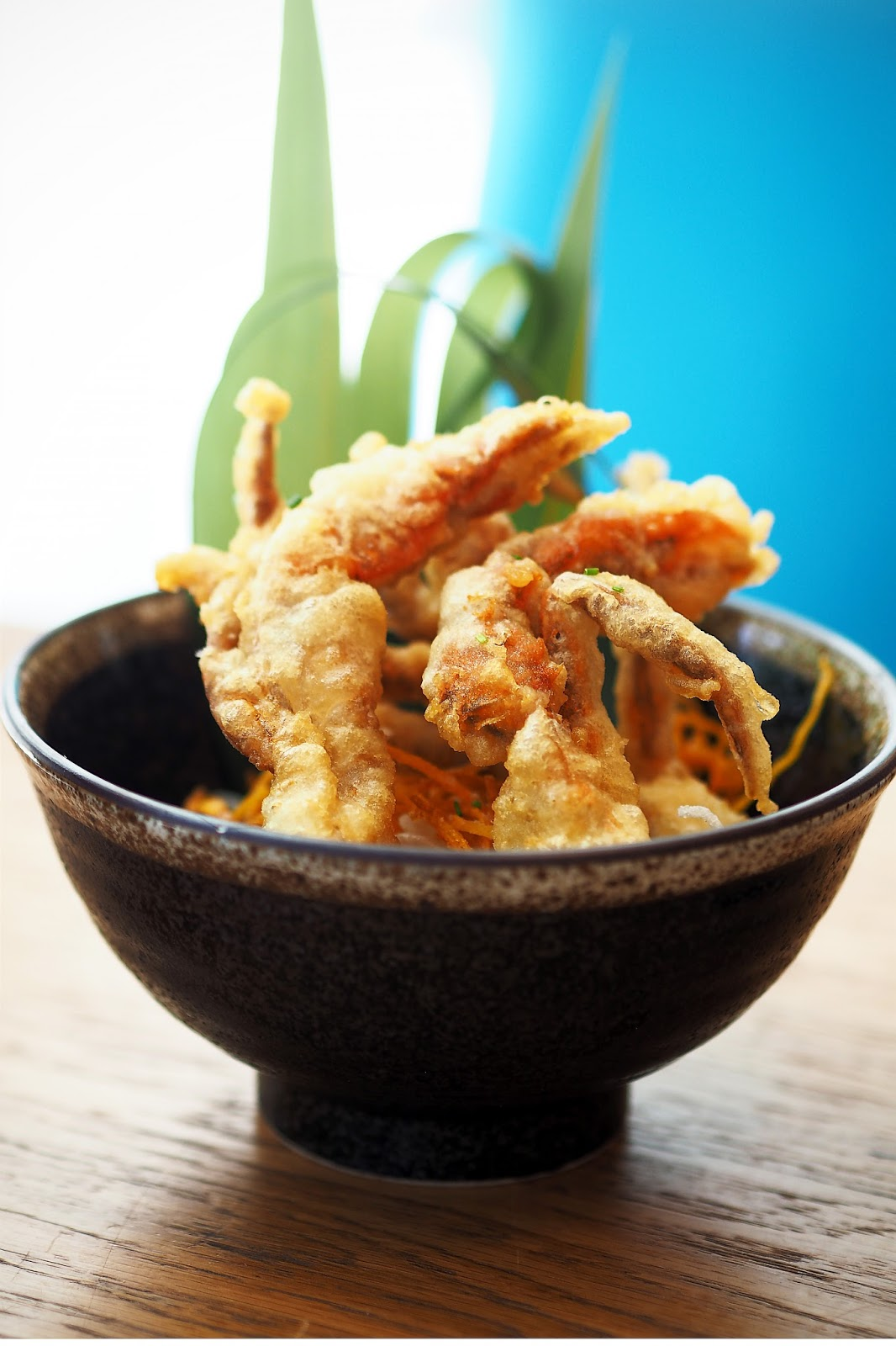 bowl of soft shell crab