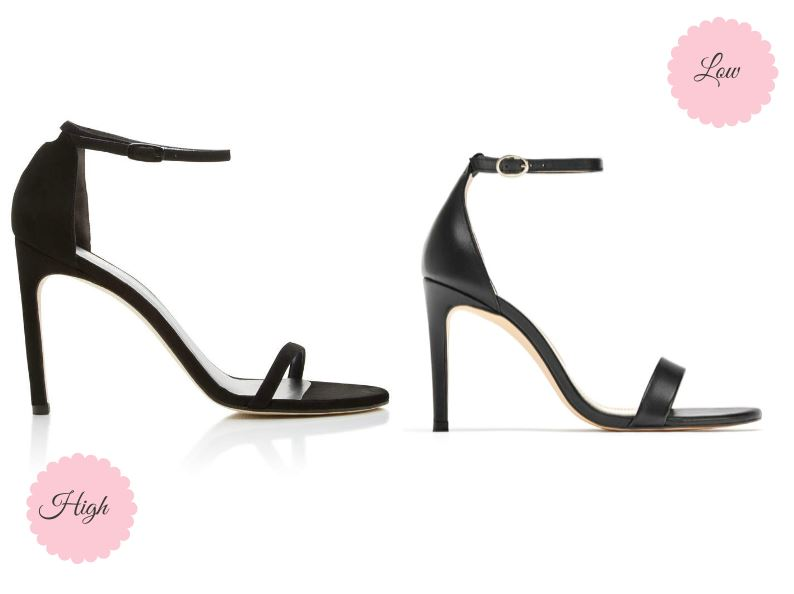High vs. Low:  Stuart Weitzman ankle-strap Nudist sandals dupe | Ioanna's Notebook