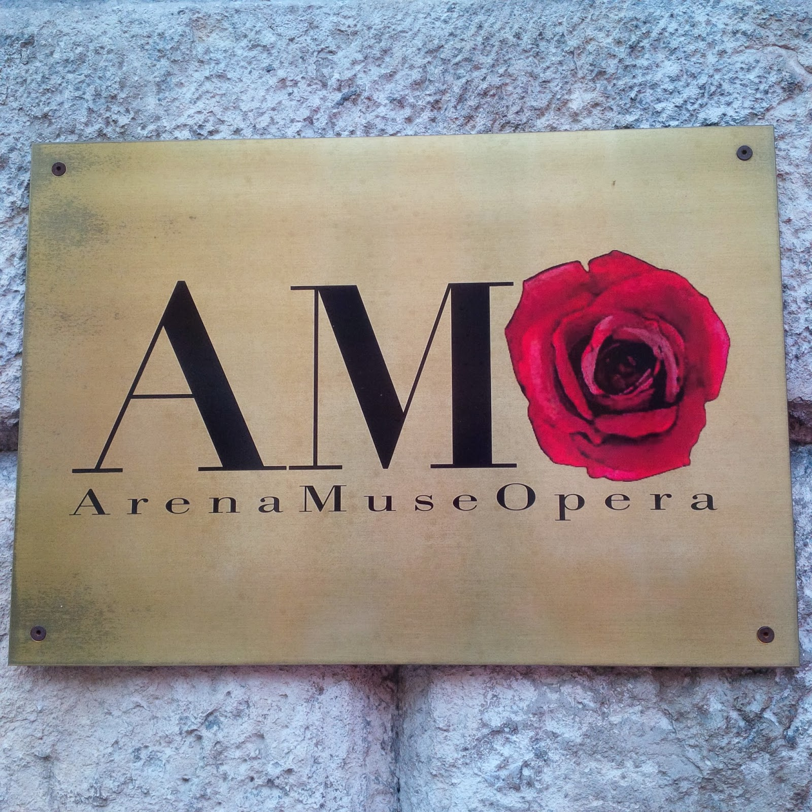 The sign of Arena Museo Opera in Verona