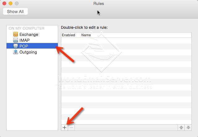 ຕັ້ງຊື່ Rule Junk E-mail Filtering
