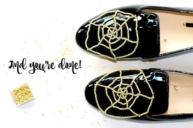 Shoes, DIY, pearls, spiderweb, Charlotte Olympia, inspired