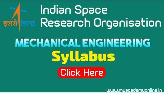 mechanical isro syllabus