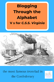 drawing of the Monitor vs Virginia
