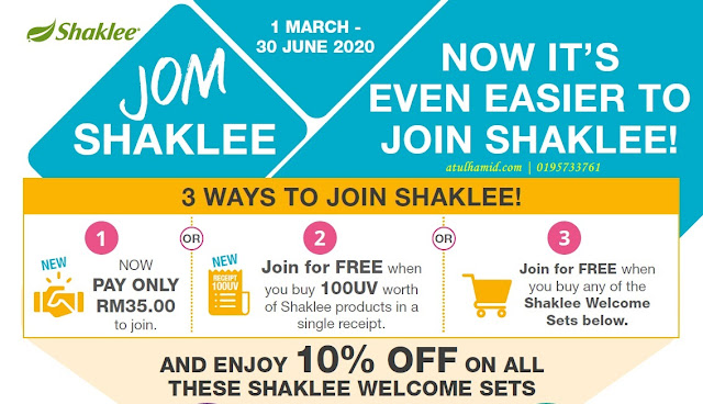 Promosi Jom Shaklee Welcome Set (Mac - Jun 2020)