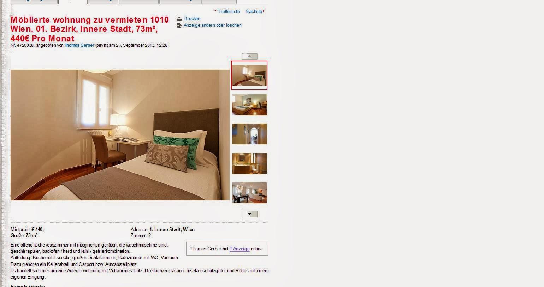 m blierte wohnung zu vermieten 1010 wien 01 bezirk innere stadt. Black Bedroom Furniture Sets. Home Design Ideas