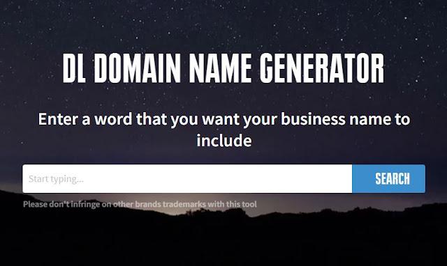 free domain name generator tool