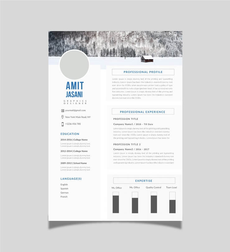 Download Template CV Word 100% Gratis - Free Tables CV template