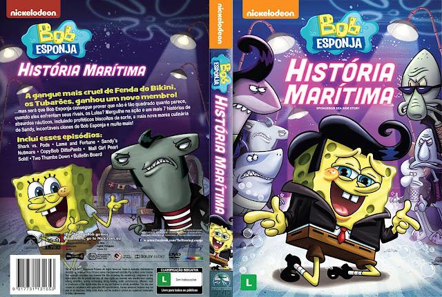 Capa DVD Bob Esponja História Marítima [Custom]