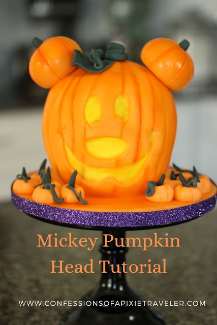 Mickey Pumpkin Head Cake