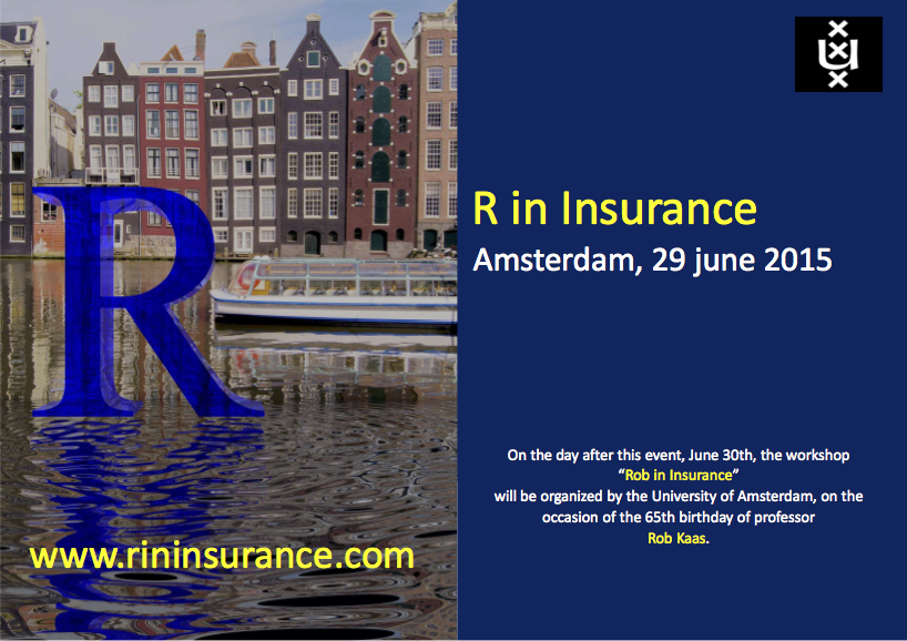R in Insurance 2015 Conference Programme