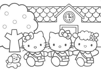 Gambar Animasi Hello Kitty Hitam Putih Pilihan Cikimm Com