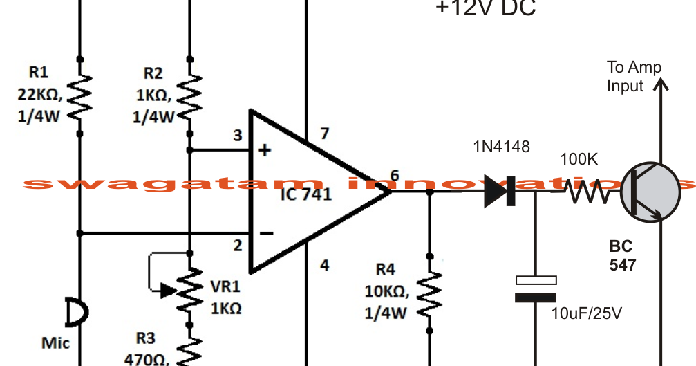 sound activated automatic amplifier mute circuit electronic circuit