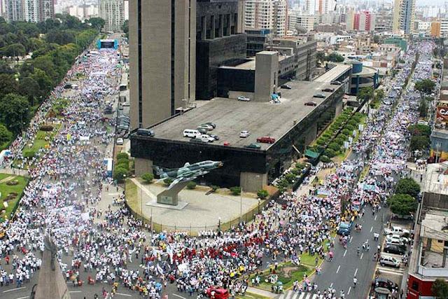 Marcha pela Vida em Lima, Peru.