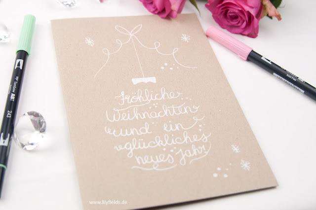 handlettering - Weihnachtskarte