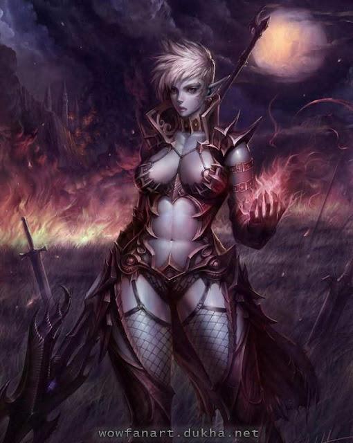 Ночная эльфийка с огоньком