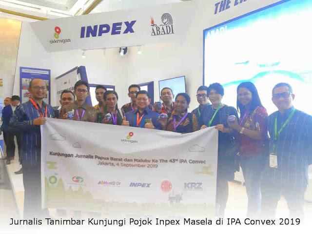 Jurnalis Tanimbar Kunjungi Pojok Inpex Masela di IPA Convex 2019