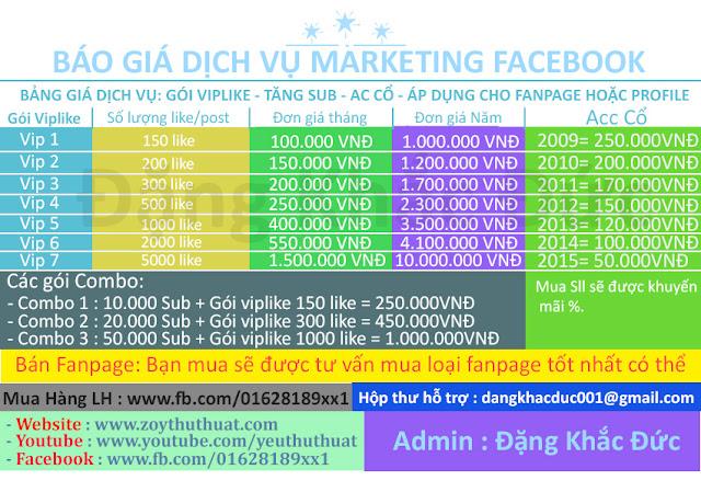 [Dịch Vụ] Marketing Facebook Online - Đặng Khắc Đức