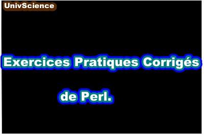 Exercices Pratiques Corrigés de Perl.