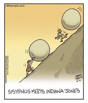Meme de humor sobre mitos griegos