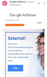 Hasan askari: diterima google Adsense