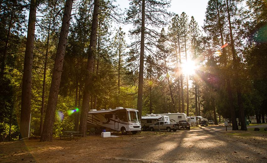 Passport america site seers yosemite lakes rv resort for Yosemite park camping cabins