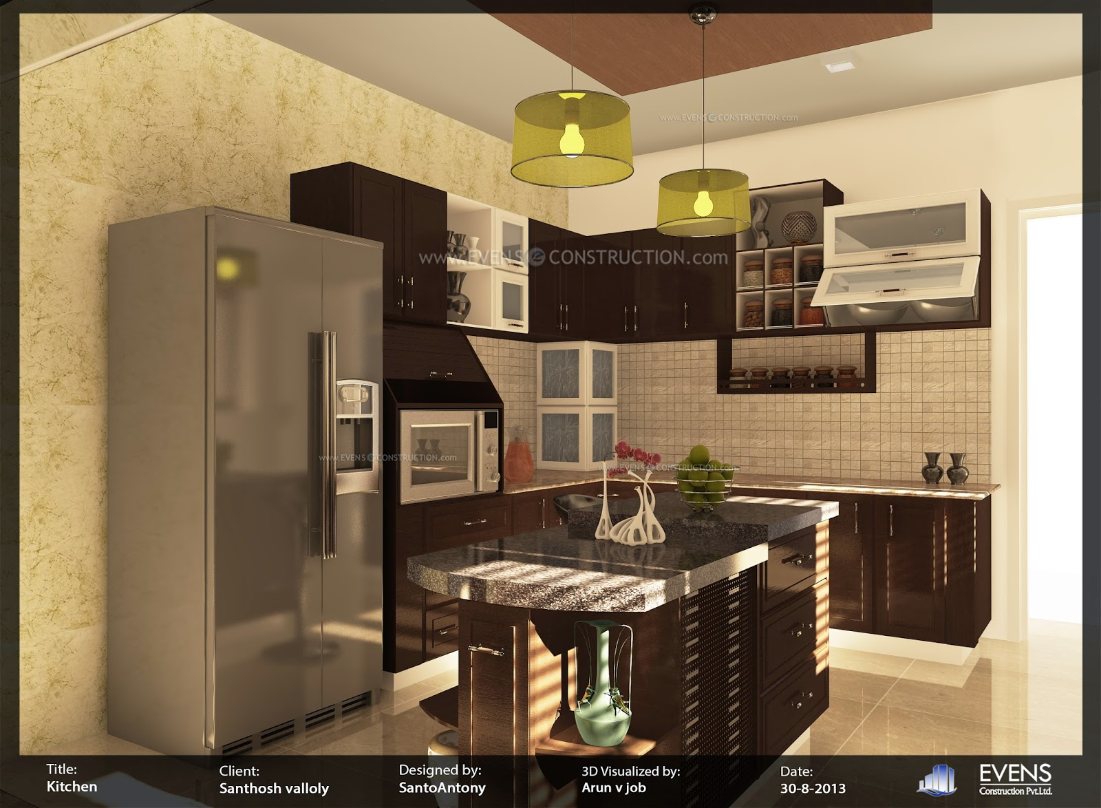 evens construction pvt ltd kerala kitchen interior designs