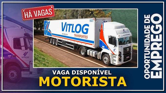 VITLOG Transportes abre vagas para Motorista Carreteiro.