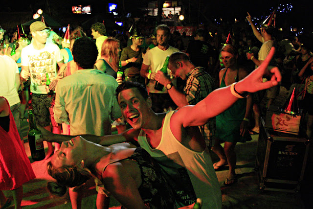 Gili Trawangan beach party.